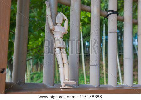 Wooden  Figure Standing