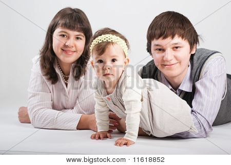 Portrait Of A Happy Family..