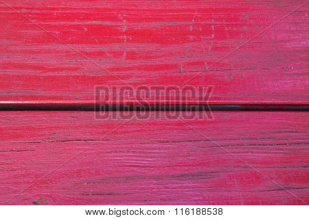 Grunge Red Painted Wooden Textured Background