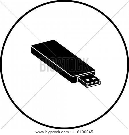 usb flash drive symbol