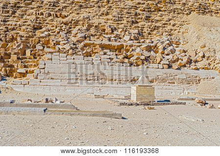 Capstone At Dashur Pyramid, Egypt