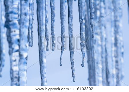 Patterns And Texture On Icicles