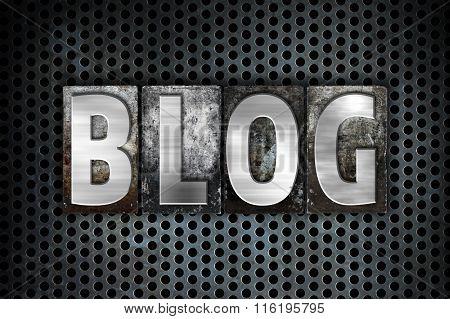 Blog Concept Metal Letterpress Type