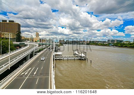 Brisbane highway and River
