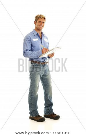 Portrait of service worker