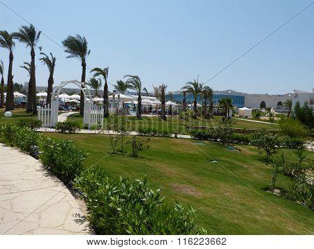A seaside resort near the Red Sea, in Egypt