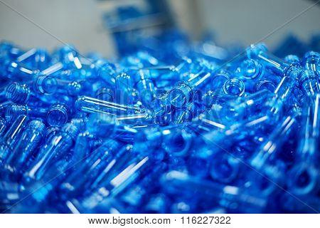 Water Plastic Bottling Plant Concept.