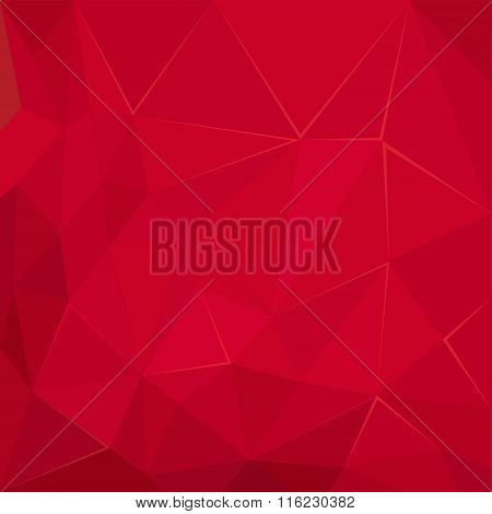 Abstract polygonal geometric Red  facet background illustration