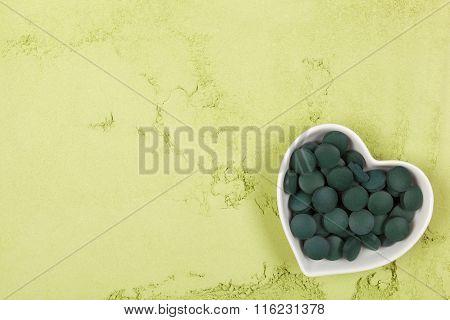 Chlorella And Spirulina Background.