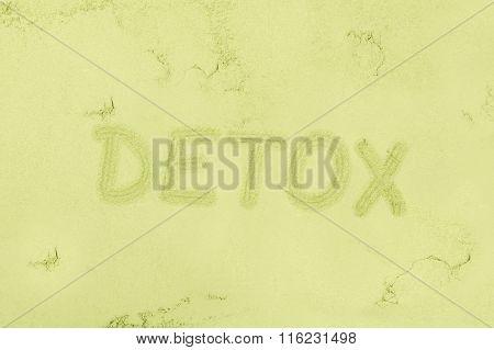 Green Detox Background.