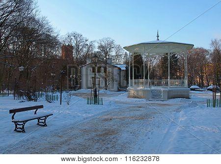 Park bandstand.