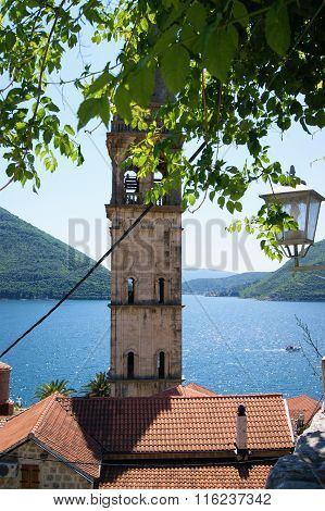 Bell tower in Perast