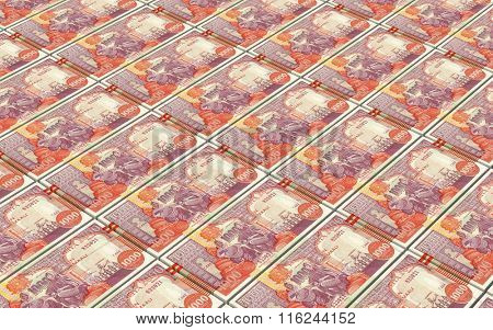 Somalian shilings bills stacked background. Computer generated 3D photo rendering.