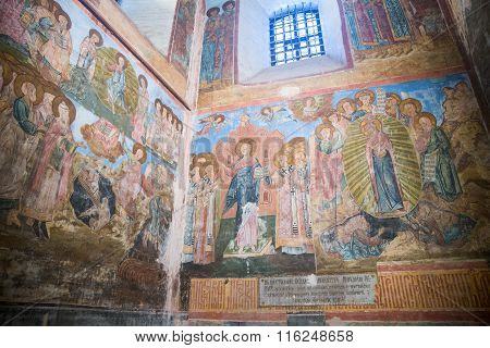 Ancient Frescoes In Assumption Cathedral Of The Kirillo-belozersky Monastery