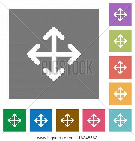 Move Square Flat Icons
