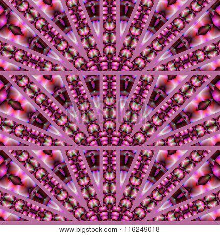 Seamless pattern fan-shaped violet