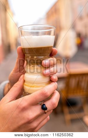 Traditioanl canarian coffee barraquito