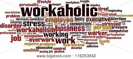 Workaholic Word Cloud