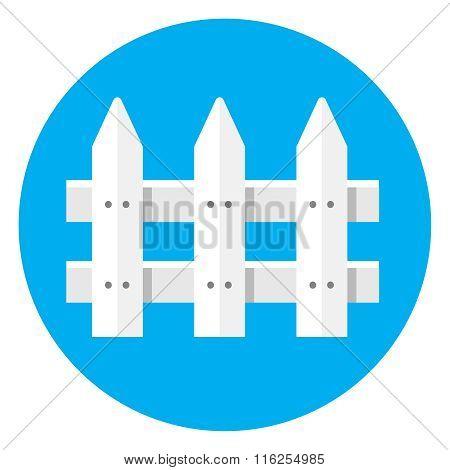 Picket Fence flat icon