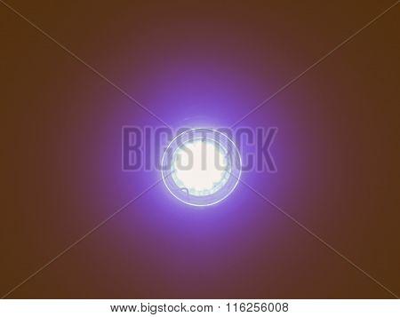 Blue Led Light Bulb Vintage