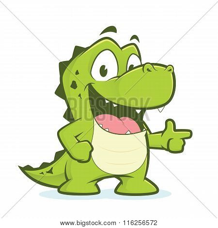 Crocodile or alligator pointing