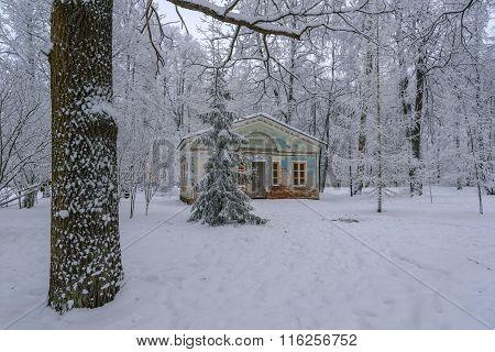 Old Pavilion In Winter Park