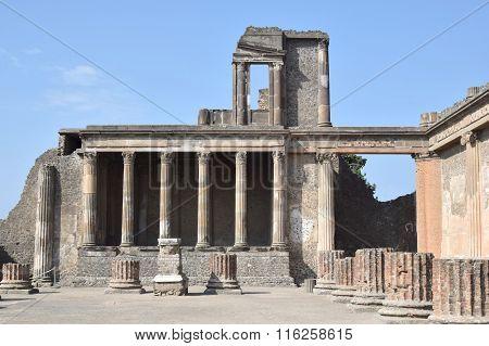 Roman Ruin In Pompeii, Italy