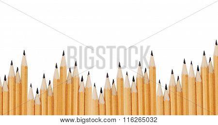 Slate Pencils Isolated On White Background