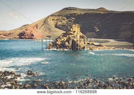 El Golfo Bay, Western Lanzarote, Canary Islands, Spain