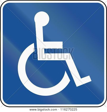 United States Mutcd Road Road Sign - Handicapped Accessible