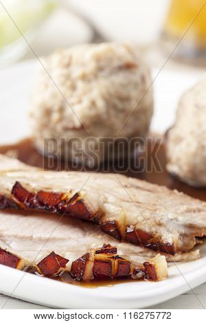 Bavarian Roasted Pork On A Plate