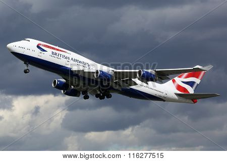 British Airways Airplane Boeing 747-400 London Heathrow Airport
