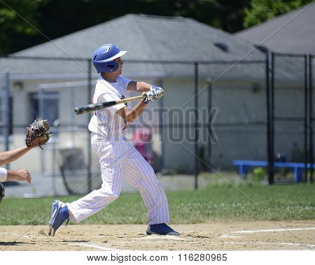 Baseball Batter Swinging