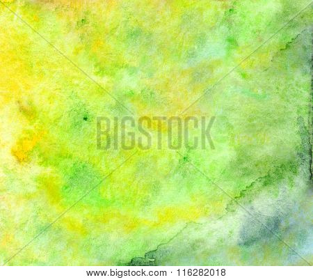 Watercolor Green Yellow Neon Texture Background Wallpaper