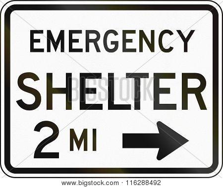 United States Mutcd Emergency Road Sign - Emergency Shelter