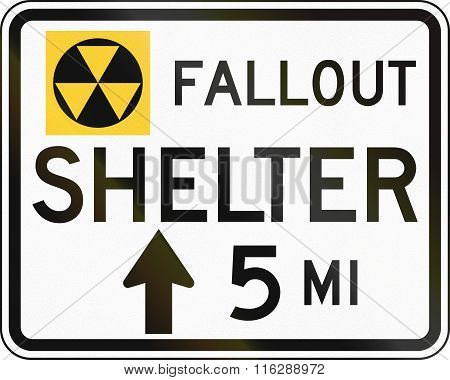 United States Mutcd Road Sign - Fallout Shelter