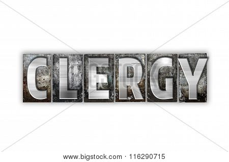 Clergy Concept Isolated Metal Letterpress Type