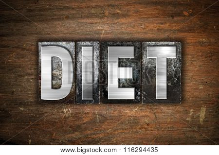 Diet Concept Metal Letterpress Type
