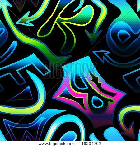 Graffiti Background Seamless Texture