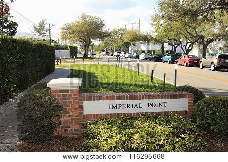Imperial Point Neighborhood Entrance Sign