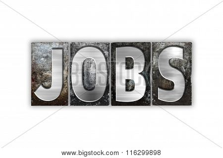 Jobs Concept Isolated Metal Letterpress Type