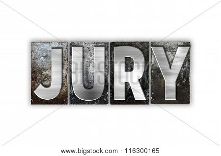 Jury Concept Isolated Metal Letterpress Type