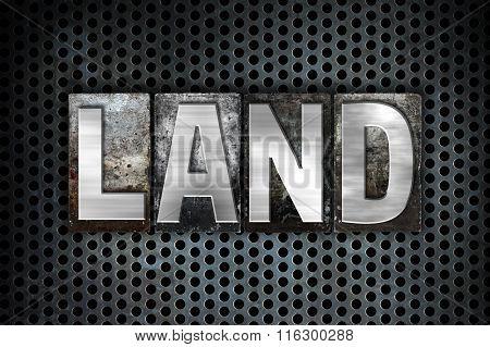 Land Concept Metal Letterpress Type