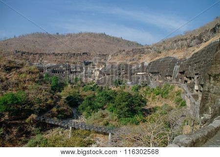 Ajanta Caves Near Aurangabad, Maharashtra State In India