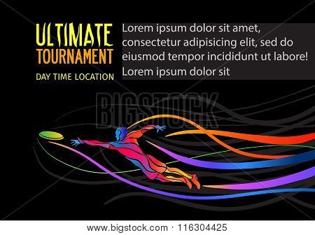 Ultimate sport invitation poster or flyer background with empty space, banner template
