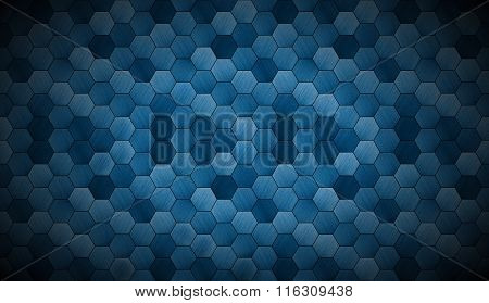 Extra Dark Cyanotype Tiled Background With Spotlight