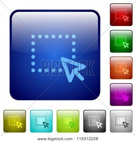 Color Drag Square Buttons