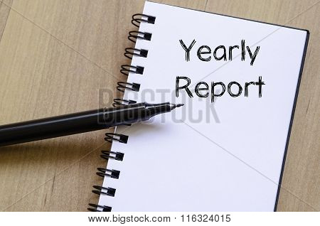 Yearly Report Write On Notebook