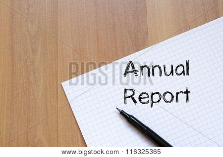 Annual Report Write On Notebook