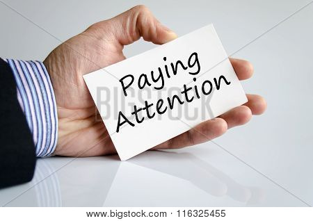 Paying Attention Text Concept